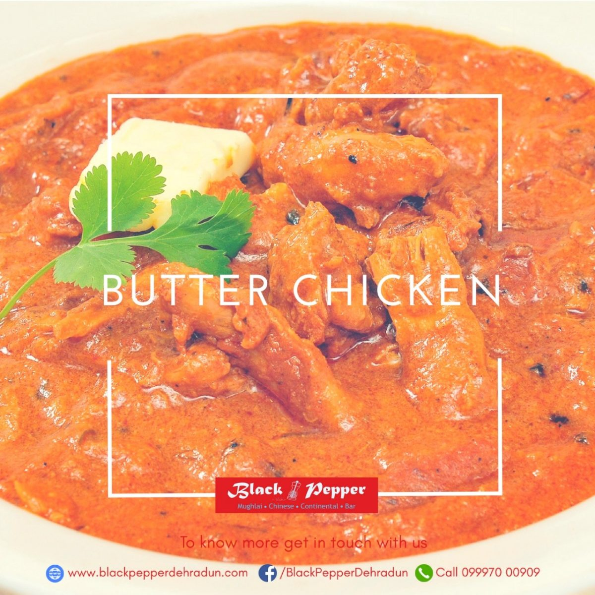 Blackpepper Dehradun : Recipe Butter Chicken Dehradun